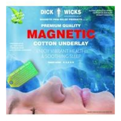 Dick Wicks Premium Cotton Magnetic Underlay Double Bed (137 X 191cm)