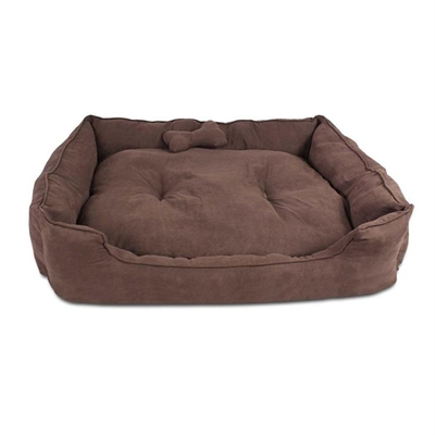Faux Suede Washable Dog Bed – Extra Large