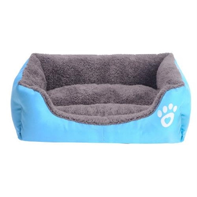 Jumbo Pets Soft Dog or Cat Pet Bed in Blue Medium