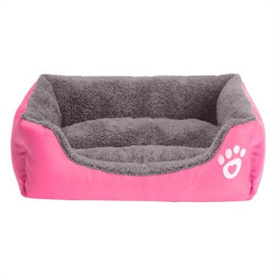 Jumbo Pets Soft Dog or Cat Pet Bed in Rose Small