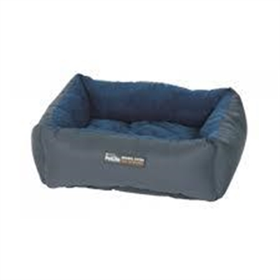 Purina Petlife Self Warm Cuddle Bed Blue/Charcoal Small/ Medium