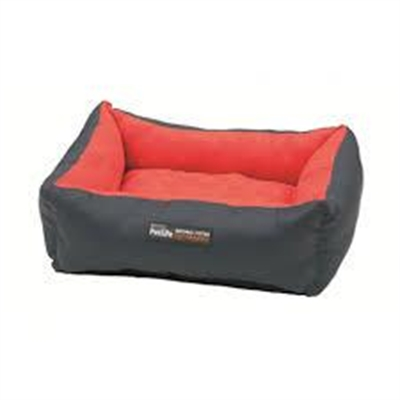 Purina Petlife Self Warm Cuddle Bed Red/Charcoal Medium/ Large