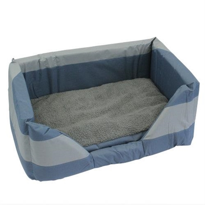 Walled Dog Bed in Blue Large