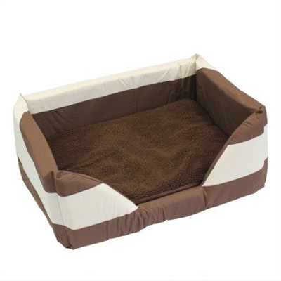 Walled Dog Bed in Brown Medium