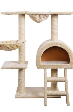 i.Pet 100cm Multi Level Cat Scratching Post – Beige