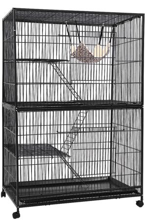 i.Pet 4 Level Pet Cage – Black